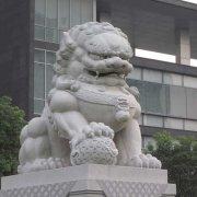 中式石狮子汉白玉(图片