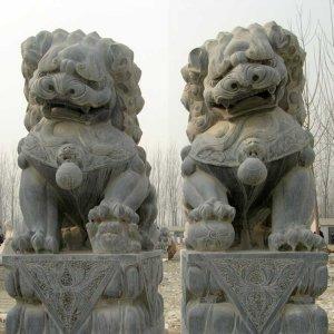 青石石狮子石雕狮子价格(图片)