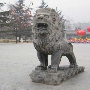 威严青石石雕狮子价格(图片)