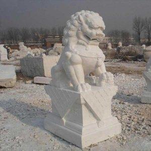 高两米花岗岩石狮子石雕狮子(图片)