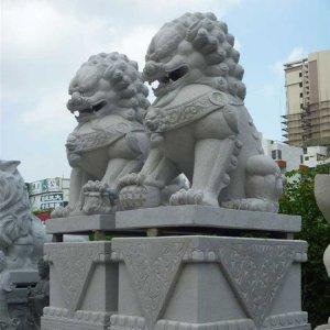花岗岩石狮子(图片)