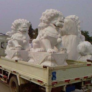 大理石石雕狮子价格(图片)