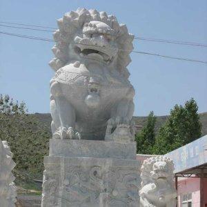 大理石石狮子石雕狮子(图片)
