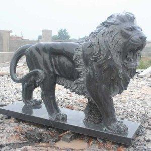 大理石石狮子石雕狮子价格(图片)