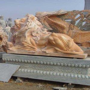 晚霞红石狮子价格(图片)
