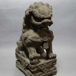 镇宅石雕狮子(图片)
