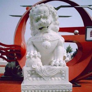 石雕狮子看门价格(图片)