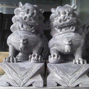 大理石石雕狮子看门(图片)