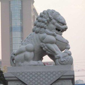 中式石雕狮子价格(图片)