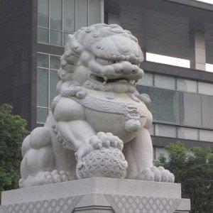 中式石狮子汉白玉(图片)