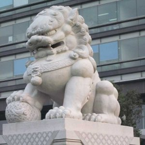 中式石狮子花岗岩(图