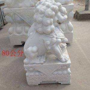 高0.8米石雕狮子侧面图片材质汉白玉(05)
