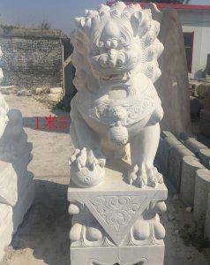 高1.5米石狮子 汉白玉材质图片(07)