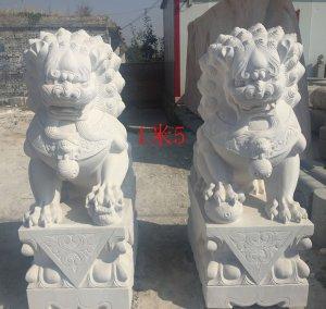 高1.5米汉白玉石狮子一对价格便宜图片(10)