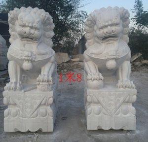 高1.8米北京汉白玉石狮