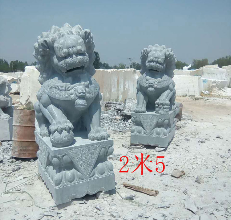 5米青石狮子一对 批发价格(26)图片